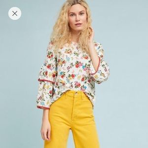 🎄Anthropologie Floral Top🎄